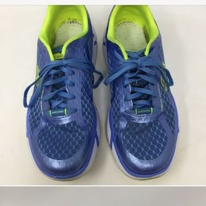 Skechers Blue White 9 Active Fit 12490 Elevations